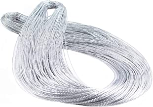 YeahiBaby Nylon Cord String Hang Gift Tag Braided Rope Wire DIY Craft Jewelry Thread 1mm 100 Yard (Silver)