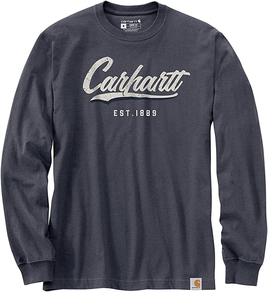 Carhartt Men's 104890 Loose Fit Heavyweight Long-Sleeve Hand-Painted Graphic T-