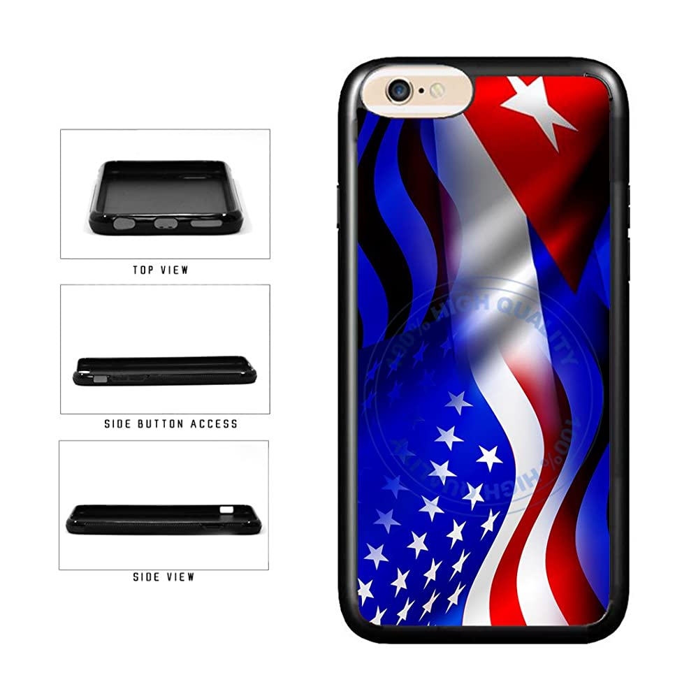 BleuReign(TM) Cuba And USA Mixed Flag TPU RUBBER Phone Case Back Cover For Apple iPhone 8 Plus and iPhone 7 Plus