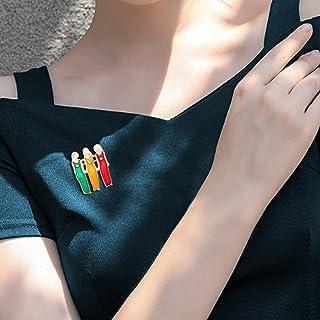 Janly - Spilla da donna a forma di sorella, in tre colori, per San Valentino