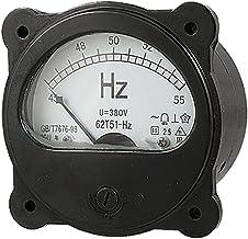 AC 380 V analógico redondo Dial 45-55 hz de frecuencia multímetro negro