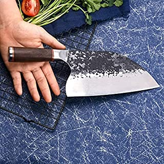 Mei Jia Premium Quality Hammered Finish Blade 5Cr15MOV Super Stainless Steel Material Blacksmith Professional Japanese Che...