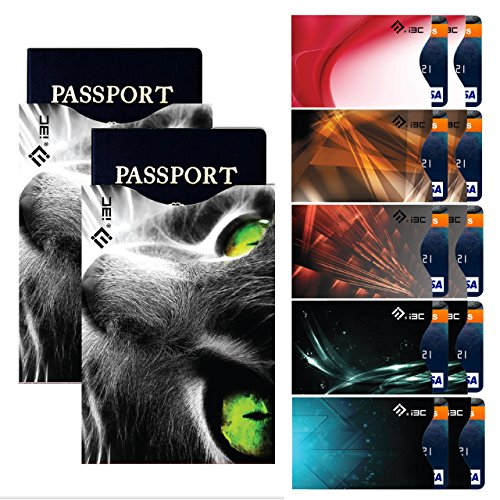 Credit Card Sleeves, I3C Credit Card Holder Anti Theft RFID Blocking Credit Card & Passport Holder Protector Sleeves 10 RFID Credit Card Sleeves, 2 RFID Passport Sleeves
