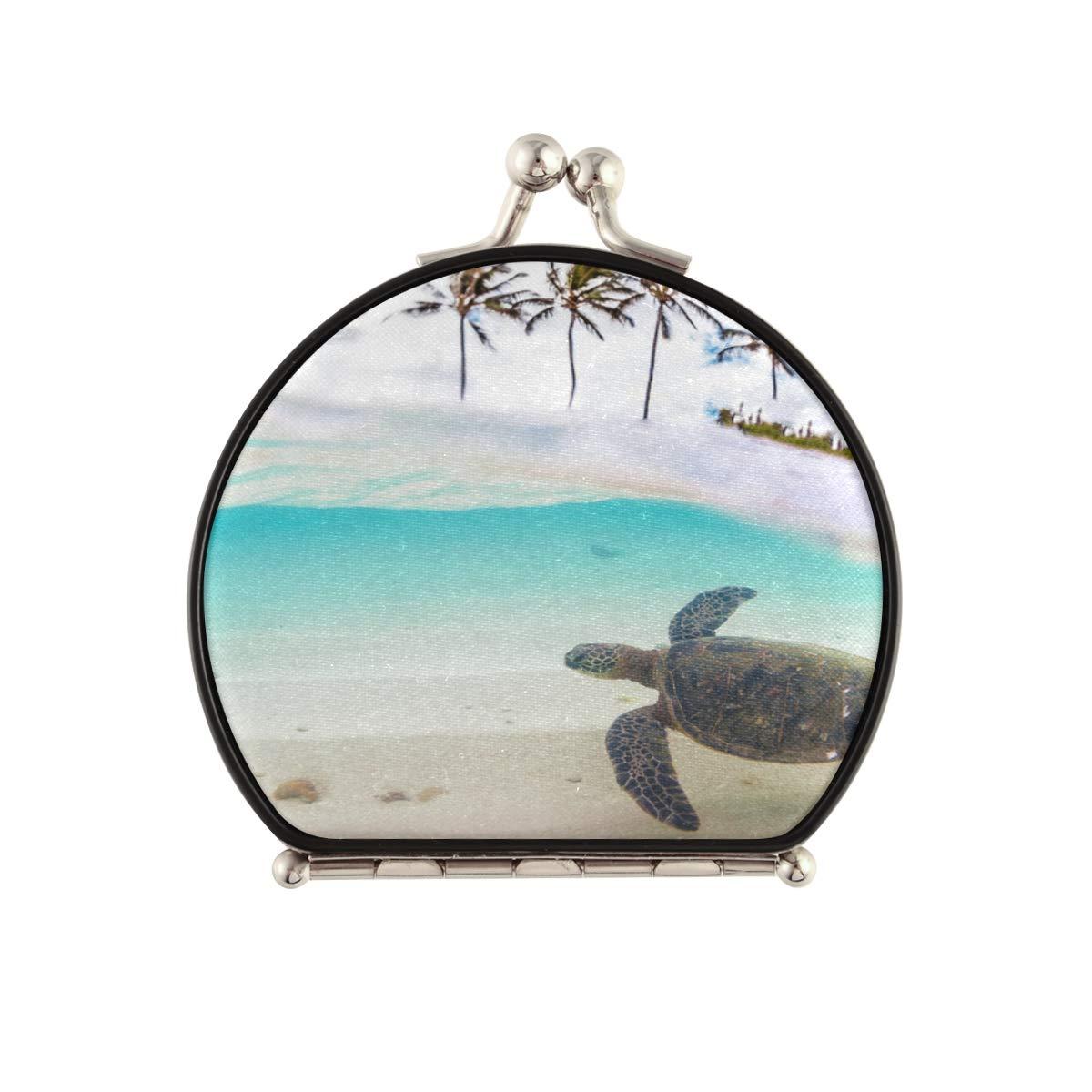 New life Magnifying Compact Cosmetic Mirror Green Endangered Sea Hawaiian price