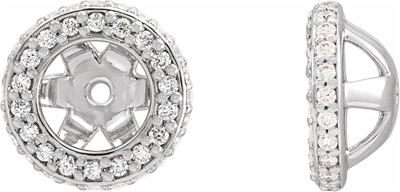 14K White Gold 1/4 CTW Diamond Jackets Earring for Women