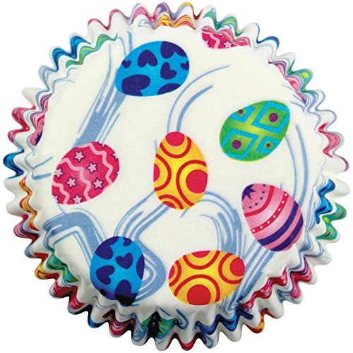 PME - Caissettes à Cupcakes en Papier à Motif Œufs Décoratifs, Dimensions Standard, Lot de 60