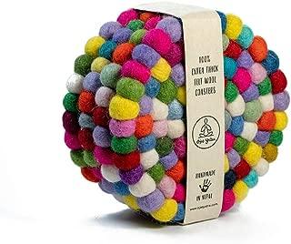 woven wool coasters
