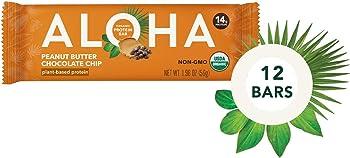 12-Count ALOHA Organic Plant Based Protein Bars 1.9oz