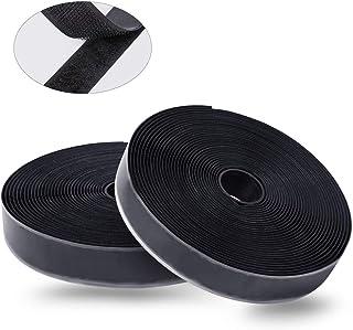 Meterware 16 mm selbstklebend Velcro Klettband Wei/ß