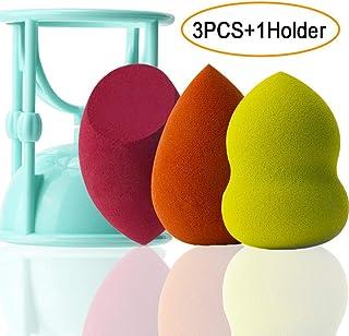 3PCS Makeup Sponge set, Flawless Foundation Blending Sponge, Make Up Sponge for Liquid, Creams, and Powders, Multi Color Cosmetic Sponges, 1 Holder Gift