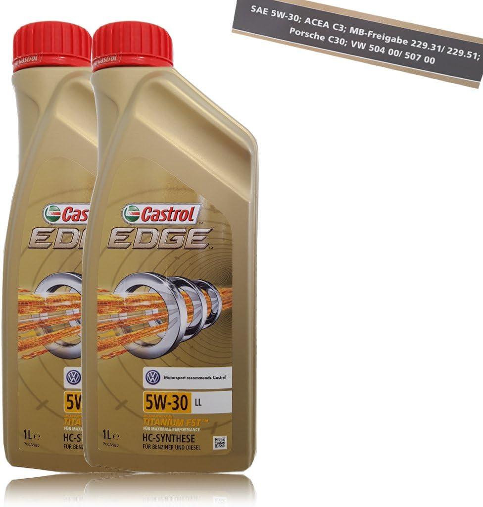 Castrol 57420 Edge Titanium Fst 5w 30 Ll Engine Oil 2 Litres Auto