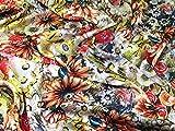 Floral Print Seidiger Satin Kleid Stoff