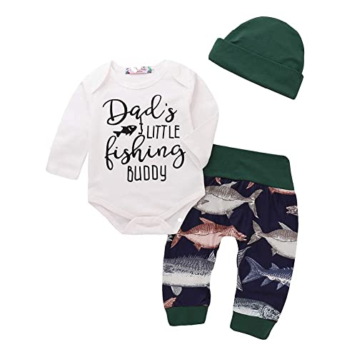 159049039 Newborn Kid Baby Girl Boy Fish Clothes T-Shirt Tops Shirts + Long Pants  Outfit