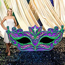 Mardi Gras Masquerade Mask Party Prop Standup Photo Booth Prop Background Backdrop Party Decoration Decor Scene Setter Cardboard Cutout
