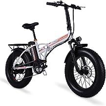 Shengmilo Bicicleta eléctrica de 20 Pulgadas Bicicleta eléctrica, Bicicleta eléctrica Plegable, Fat Tire Ebike, 48V 15AH, 500W