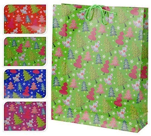 4 Set sacchetto regalo - 41cm ALTO - 4 Borsa regalo natale confezione