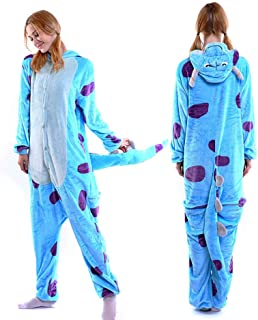 Adult Kigurumi Pajamas-Unisex Sulley Onesie Halloween Animal Costume Winter Sleeping Wear Cosplay