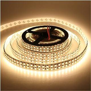 LEDENET Warm White 5M Double Row 3528 SMD 1200LEDs Flexible Strip Tape Light 240LEDs/M Ribbon Lamp DC 12V 16.4Ft (Warm Whi...
