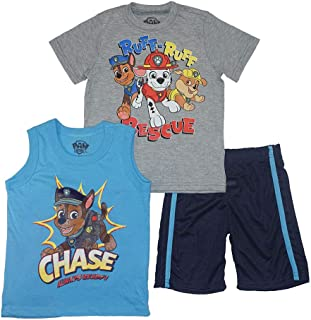 Nickelodeon Paw Patrol Little Boys Three-Piece Short Set