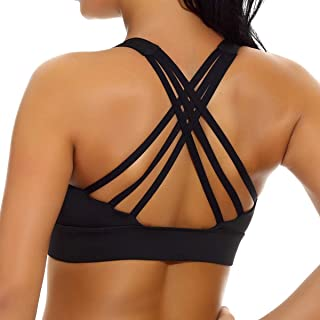 Women's Removable Padded Sports Bras High Impact Support Fitness Racerback Workout Yoga Bra