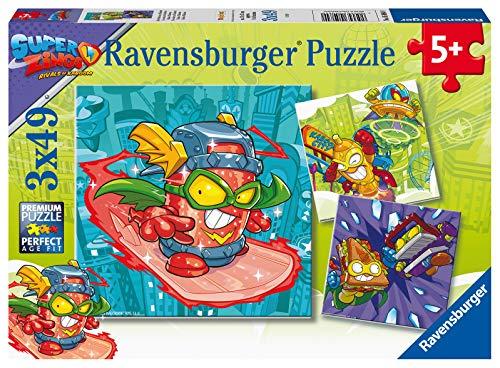 Ravensburger Puzzle, 05084, Super Zings, Puzzle 3x49 Piezas, Puzzle Niños, Edad Recomendada 5+ , Rompecabezas Ravensburger