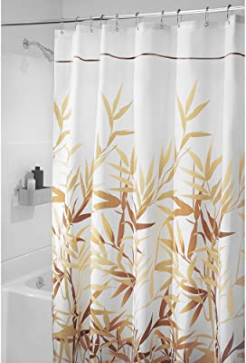 "iDesign Anzu Fabric Shower Curtain - Long, 72"" x 84"", Brown,36531"