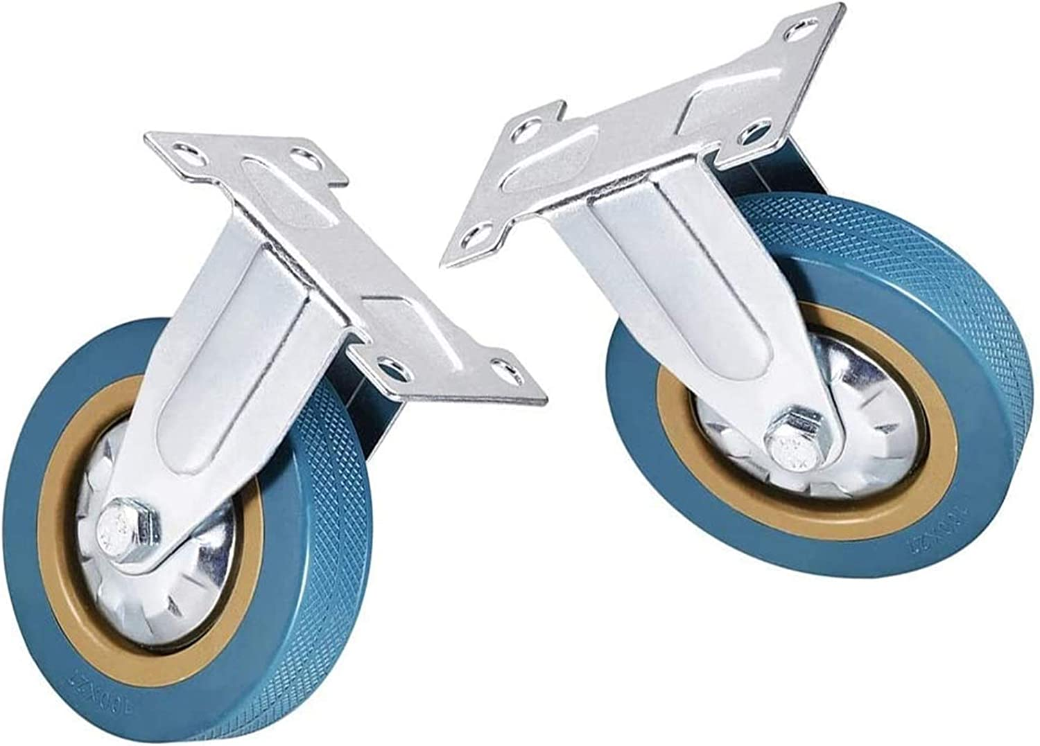 LLC- SUDA Plate Fresno Mall Casters 2 Pieces Bargain sale Rigid Fixed Wh Castor of 100mm