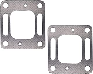 HuthBrother 18-0897 Exhaust Restricted Elbow Risers Gasket for Mercury Mercruiser V6 V8 Bravo 27-863724 27-41813 2 Pack set