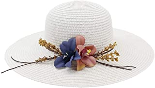 Sun Hat for men and women Retail 6 Color Summer Flowers Simple Big Straw Hat Women Beach Hat Parent-child Topee Sun Hat