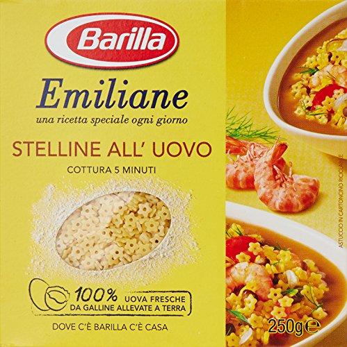 Barilla - Emiliane Stelline All'Uovo, Cottura 5 Minuti - 250 G