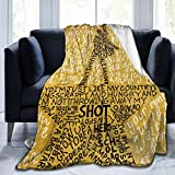 Hamilton an American Musical Ultra-Soft Micro Fleece Blanket Throw Sherpa Throw Blanket for Couch Bed Sofa 40'x50'