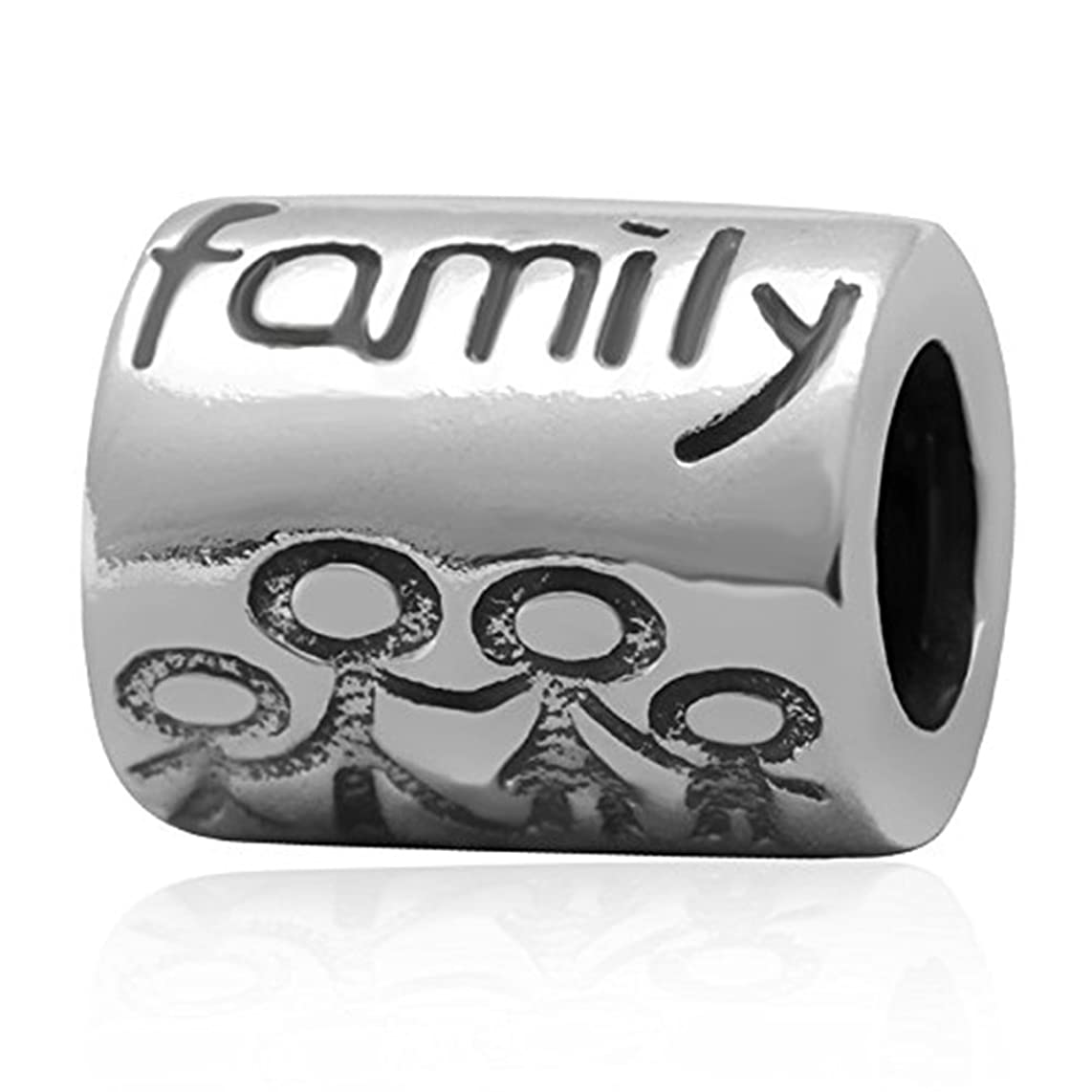 Letter Family Charm 925 Sterling Silver Family Together Charm Fits for DIY Bracelets jewelry