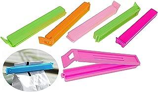 24pcs Foods Preservation Sealing Clip Foldable Reusable Storage Bags Sealer Clip Closure Clamp(Mixed Colors)