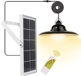 Solar Lights Outdoor,ESANDA Waterproof Solar Bright Lamp with Remote Lighting Color Adjustable Barn LED for Garden Yard Sh...