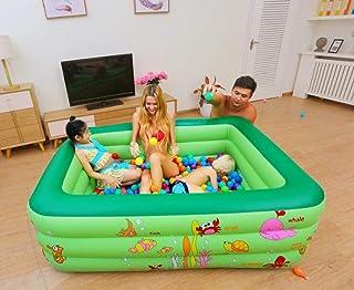 OKOUNOKO Colchoneta De Chorro De Agua para Niños, Piscina De Agua Tubular Rectangular Piscina De Agua, PVC Inflable Durable, Animal Marino verde-150 * 110 * 50 cm