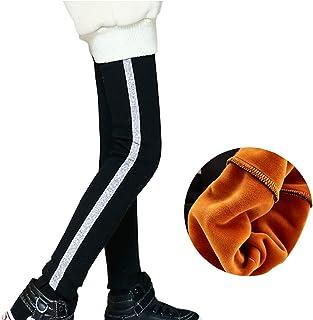 d08cc61c5a0a3 Yyicool Winter Kids Girls Fleece Warm Skinny Pants Teenagers Elastic Waist  Thick Trousers Legging Bottoms