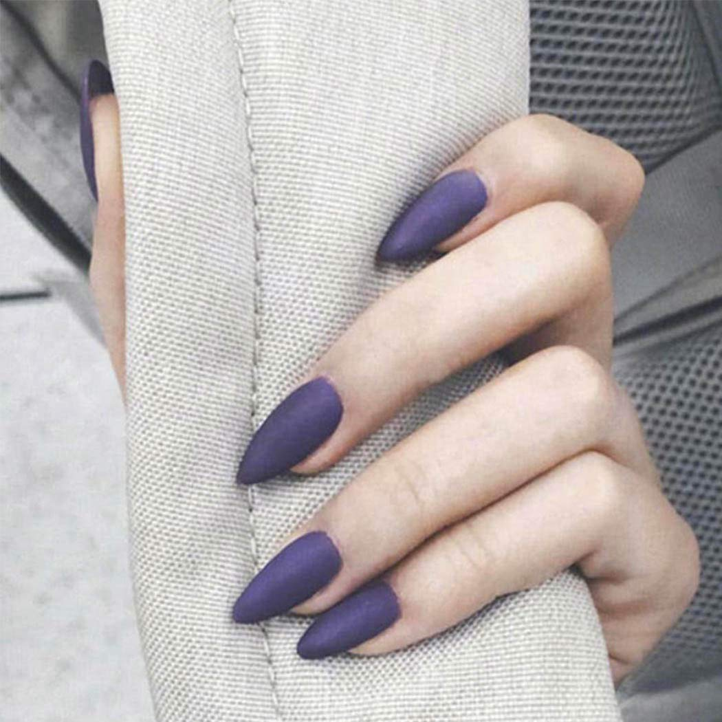 Yizaca Matte Stiletto Deluxe False Nails Full Fake Oklahoma City Mall Acrylic Purple