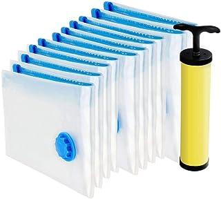 Clayworker | Lot de 10 Sac de Rangement Sous Vide Aspirateur 4*(60x40cm), 4*(80x60cm), 2*(120x80cm) | Rangement sous Vide ...