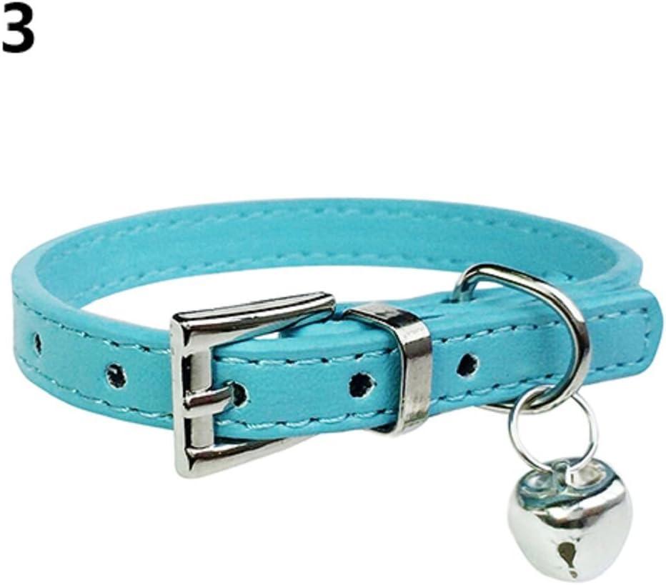 Collana con ciondolo a forma di campana colore: Blu con fibbia taglia XXS in finta pelle Alcyoneus