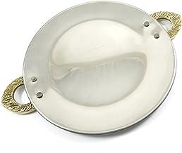 صينية تقديم من الفولاذ الهندي الهندي الأصلي خاص إنديانابيوتيفول من IBA طبق لتقديم طبق طبق للأطباق الهندية 17.78 سم