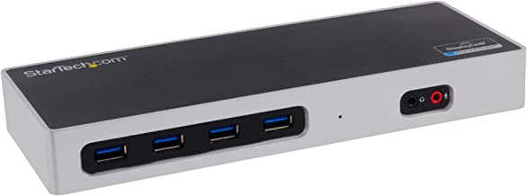 StarTech.com Dual 4K Docking Station - USB C and A (3.0) - Dual Monitor DisplayPort + HDMI Dock for Mac & Windows Laptops (DK30A2DH)