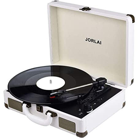 Record Player Bluetooth Turntable for Vinyl Records with Stereo Speakers USB Belt-Driven 3-Speed Portable Vintage Vinyl Record Player