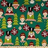 Alexander Henry 0644886 The Nutcracker Fabric Stoff,