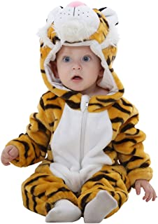 Baby Costume,Animal Cosplay Pajamas for Boys Girls Winter Flannel Romper Outfits 3-36 Months