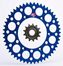 Renthal Grooved Front & Ultralight Rear Sprockets Kit -13/50 BLUE - Yamaha WR450F, YZ450F