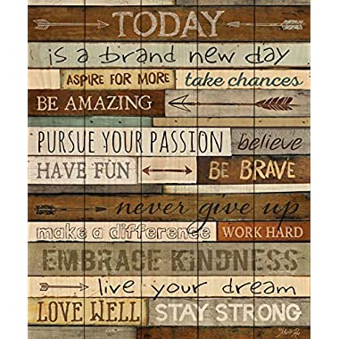 Today is a Brand New Day Inspirational Phrases 21 x 18 Wood Pallet Wall Art Sign Plaque