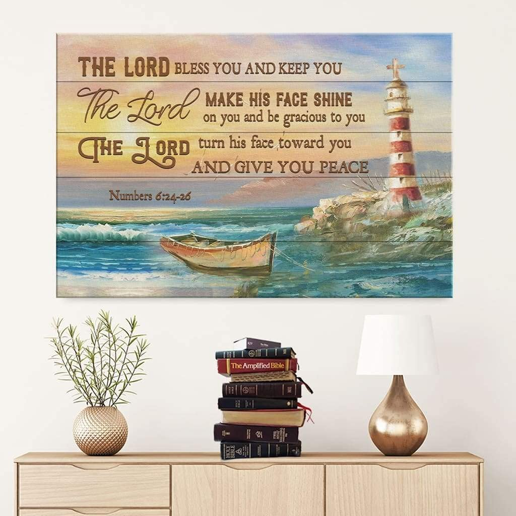 The Lord Bless You And Keep for Art Wall Canvas Bedroom Houston SALENEW very popular! Mall Livi