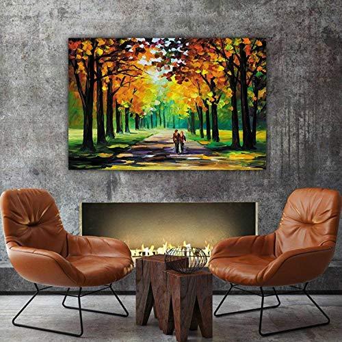 Henypt bilderleinwand Bunte Ölgemälde Park Spaziergang High Definition Inkjet Wand Kunst Leinwand Dekoration Wohnzimmer Poster Picture-50 * 70No Frame