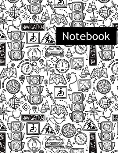 Navigation : College Ruled Notebook & 2020 Planner: Lined notebook Gift, 120 Pages, 8.5x11, Soft Cover, Matte Finish