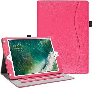 Fintie iPad 9.7 2018 2017 / iPad Air 2 / iPad Air Case - [Corner Protection] Multi-Angle Viewing Folio Cover w/Pocket, Auto Wake/Sleep for Pad 6th / 5th Gen, iPad Air 1/2, Hot Pink